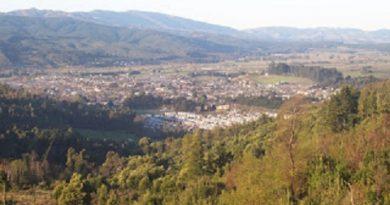 Vista Purén desde un cerro