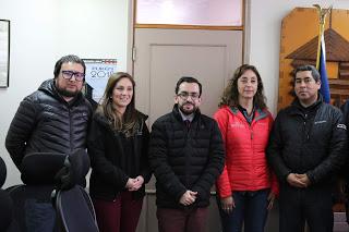 Representantes de Vialidad en Municipalidad de Purén
