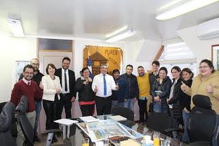 DIRECTOR REGIONAL DE SERVIU, ALCALDE Y DIRECTIVA DEL COMITÉ LAUTARO SE REÚNEN