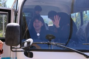 Directora en bus